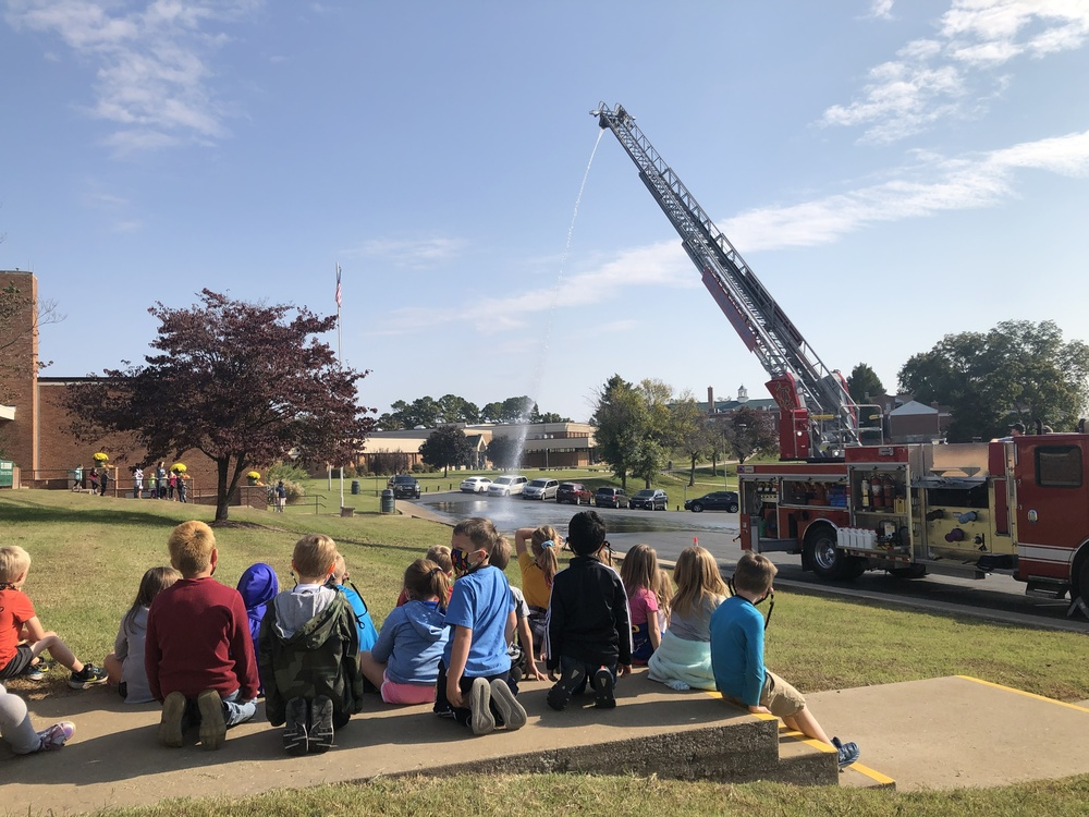 Fire Department Teaches SGE Students About Fire Prevention