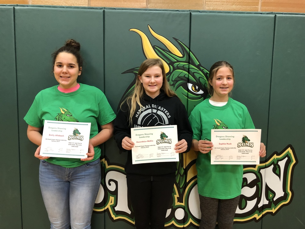 SGMS Students Recognized for Leadership Skills