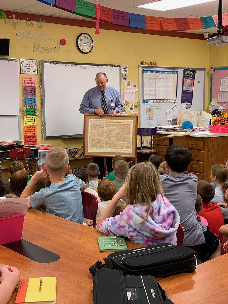 Judge Visits Fourth Graders to Discuss Constitution & Bill of Rights