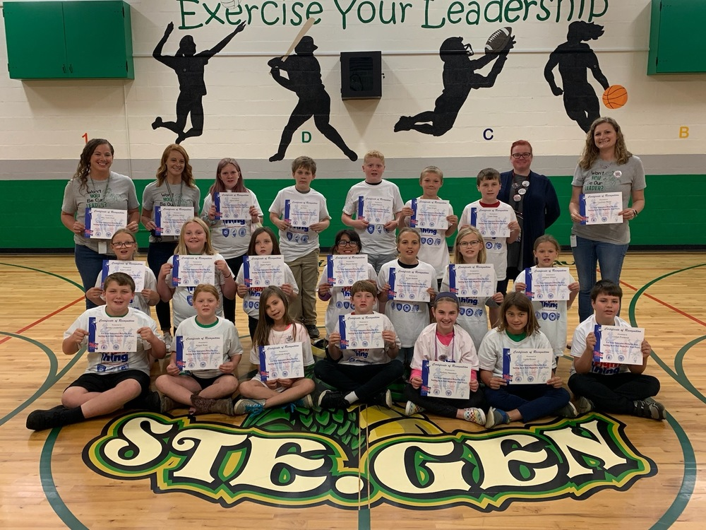 Ste. Genevieve Elementary Fourth Grade Class  Recognized with Do The Right Thing Nomination