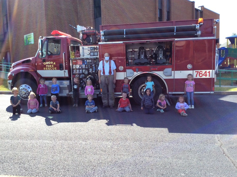 Fire Departments Teach SGE Preschoolers About Fire Prevention