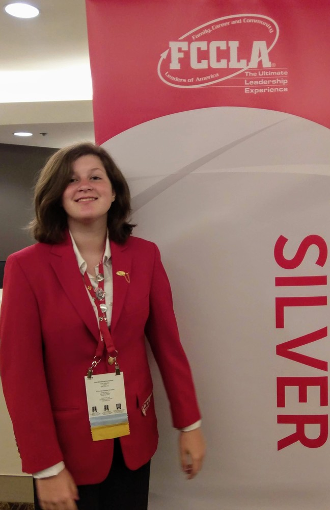 SGHS Student Drew Newman Medals at National FCCLA Conference