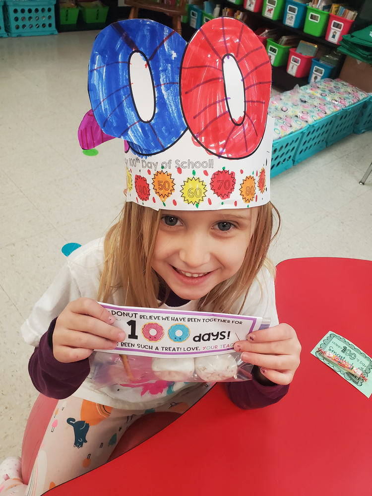 Elementary Students & Staff Celebrate 100 Days of School