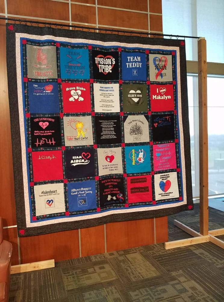 Quilt for Children with Congenital Heart Defects Auctioned & Donated to St. Louis Children's Hospital