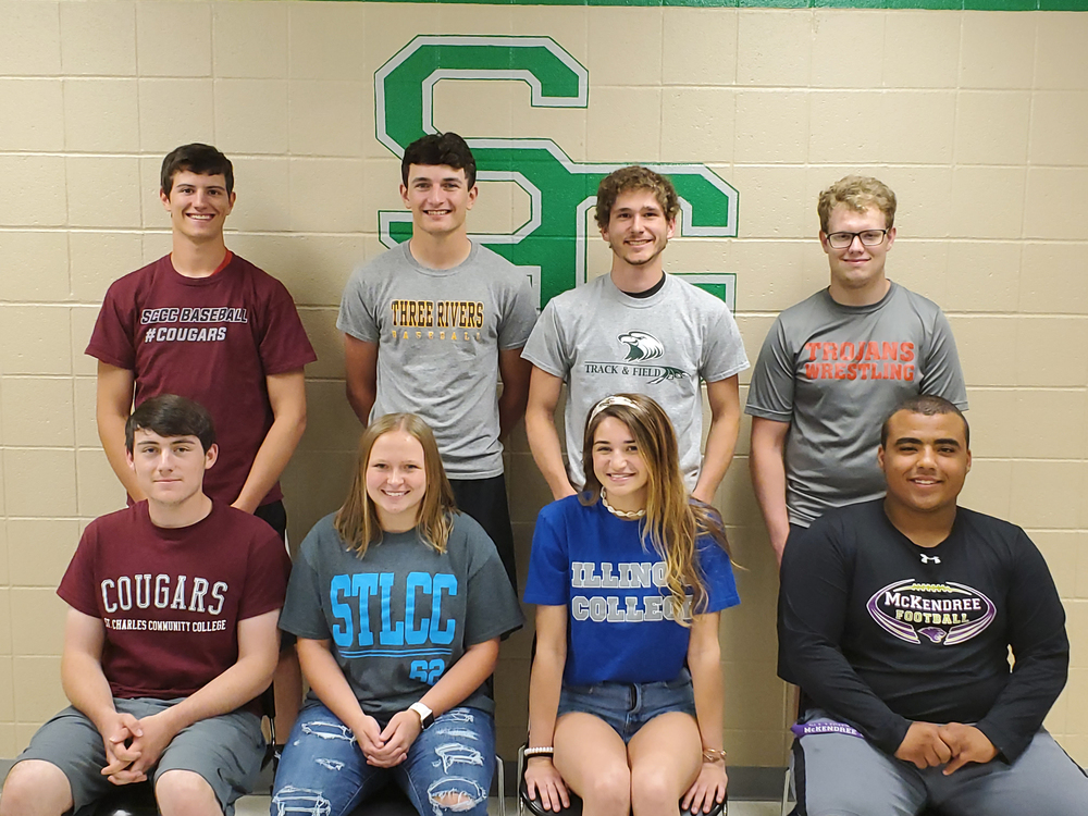 Nine Ste. Genevieve High School Seniors Sign to Play Sports in College