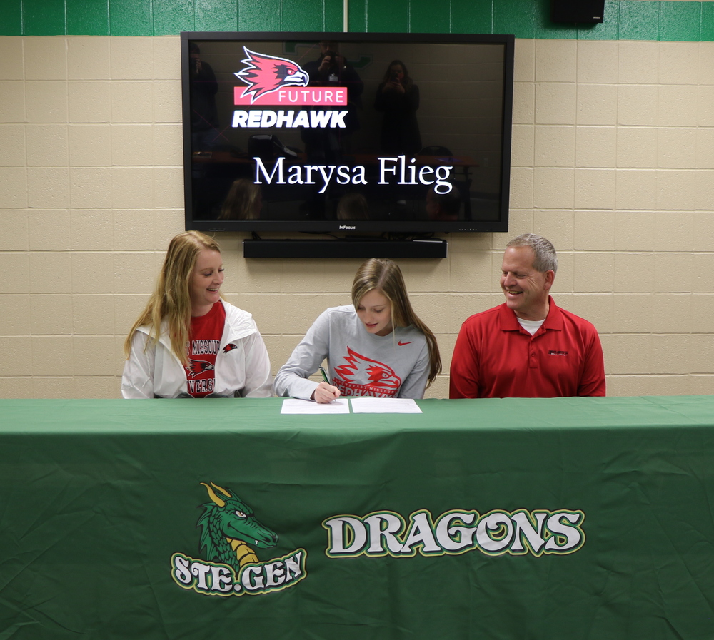Ste. Genevieve High School Senior Marysa Flieg  Signs with Southeast Missouri State University