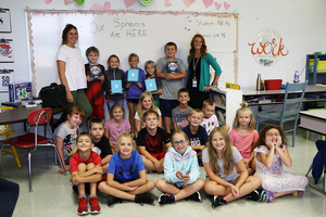 Third Grade Class Unboxes Sphero Bolts Donated to Class