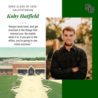 SGHS Presents Class of 2020 Salutatorian Koby Hatfield