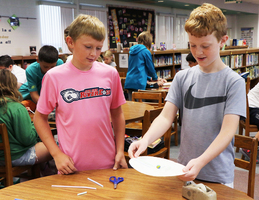 Students Create Marble Mazes in Library STEM Activity