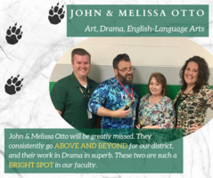 SGMS Teachers John & Melissa Otto Recognized with April Employee Spotlight