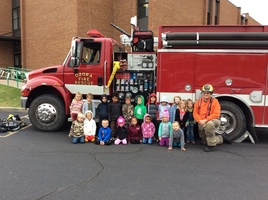 Ozora Firefighters Teach Preschool Students About Fire Prevention & Safety