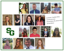 SGHS Students Recognized for Leadership Conferences