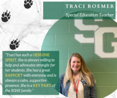 Special Education Teacher Traci Roemer Recognized as April's Faculty Member of the Month