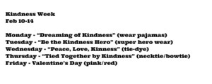 Kindness Week Feb 10-14
