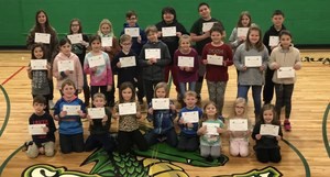 Ste. Genevieve Elementary Recognizes January Student of the Month