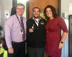 Mr. Mueller Receives SGMS Spotlight Award for October
