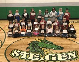 Ste. Genevieve Elementary Recognizes November Students of the Month
