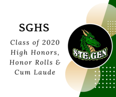 Class of 2020 High Honors, Honor Rolls & Cum Laude