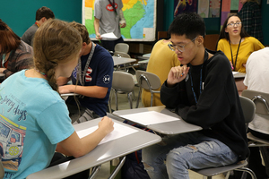 Students Take On Speed News Activity in Contemporary Issues