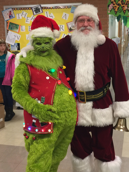 The Grinch and Santa