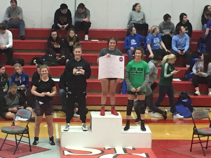 Genevieve Nickelson third place district finish!