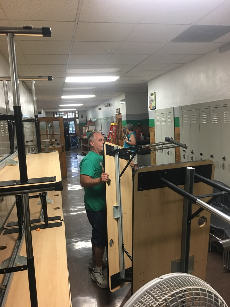 Working on getting classrooms cleaned and ready