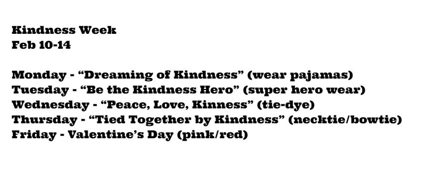 Kindness Week Dress-Up Days