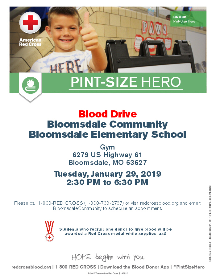 Bloomsdale Elementary Blood Drive